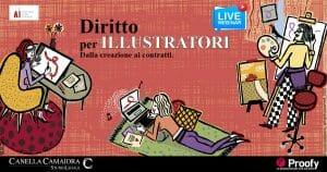 """locandina evento """"Diritto per illustratori"""""""